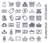 retail icons set. set of 36... | Shutterstock .eps vector #652516030