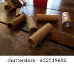 tong muan  a type of rolled... | Shutterstock . vector #652519630