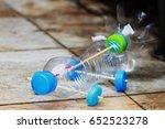 bottle toy  bottle car handmade ... | Shutterstock . vector #652523278