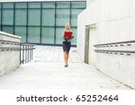 young attractive businesswoman | Shutterstock . vector #65252464