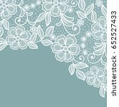 lace flowers invitation card | Shutterstock .eps vector #652527433
