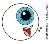 cartoon eyeball laughing | Shutterstock .eps vector #652528900