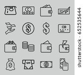 pay icons set. set of 16 pay... | Shutterstock .eps vector #652535644
