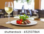 bacon wrapped pork medallions... | Shutterstock . vector #652537864