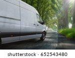 delivery van on highway | Shutterstock . vector #652543480