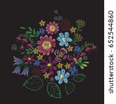 print embroidery | Shutterstock .eps vector #652544860