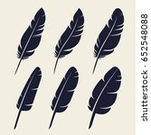 different feathers isolated... | Shutterstock .eps vector #652548088