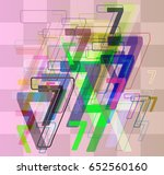 7 number pattern idea | Shutterstock .eps vector #652560160