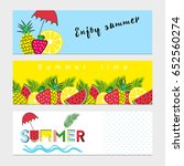 summer banners with fresh... | Shutterstock .eps vector #652560274