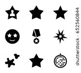 star icons set. set of 9 star...
