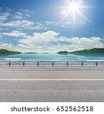 roadside on tropical beach. | Shutterstock . vector #652562518