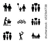 father icons set. set of 9...   Shutterstock .eps vector #652564738