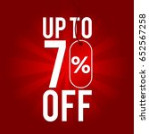 sale up to 70  off on red... | Shutterstock .eps vector #652567258