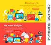 big data website banners.... | Shutterstock .eps vector #652570360