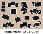 set of square vector photo... | Shutterstock .eps vector #652572949