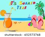 summer holidays ion beach... | Shutterstock .eps vector #652573768
