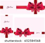 gift cards with bows | Shutterstock . vector #652584568