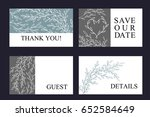 greeting card set made of hand... | Shutterstock .eps vector #652584649