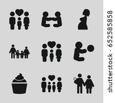 mom icons set. set of 9 mom...   Shutterstock .eps vector #652585858