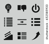 down icons set. set of 9 down...