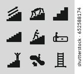 stair icons set. set of 9 stair ...   Shutterstock .eps vector #652588174