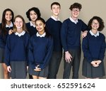group of diverse students... | Shutterstock . vector #652591624