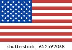 usa flag. | Shutterstock .eps vector #652592068