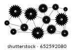 cogs connected. concept of... | Shutterstock . vector #652592080