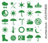 weather icons set. set of 25...   Shutterstock .eps vector #652595800