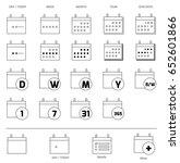 date range calendar icons | Shutterstock .eps vector #652601866