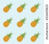 pineapple pattern. simple... | Shutterstock .eps vector #652605823