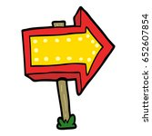 cartoon pointing arrow sign | Shutterstock .eps vector #652607854