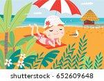 landscape with cute children in ...   Shutterstock .eps vector #652609648