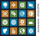 geography icons set. set of 16... | Shutterstock .eps vector #652612990