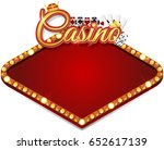 casino banner with chips and... | Shutterstock . vector #652617139