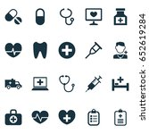antibiotic icons set.... | Shutterstock .eps vector #652619284