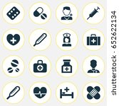 antibiotic icons set.... | Shutterstock .eps vector #652622134