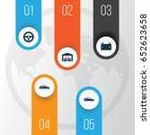 auto icons set. collection of... | Shutterstock .eps vector #652623658