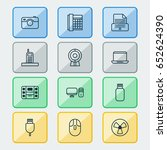 gadget icons set. collection of ... | Shutterstock .eps vector #652624390