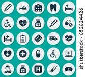 drug icons set. collection of...   Shutterstock .eps vector #652624426