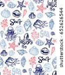hand drawn doodle sea pattern....   Shutterstock .eps vector #652626544
