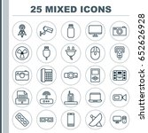 gadget icons set. collection of ... | Shutterstock .eps vector #652626928