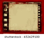 grunge frame or distressed... | Shutterstock .eps vector #652629100