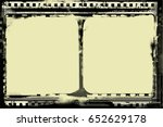grunge frame or distressed... | Shutterstock .eps vector #652629178
