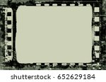 grunge frame or distressed... | Shutterstock .eps vector #652629184