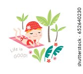 life is good  greeting card... | Shutterstock .eps vector #652640230