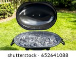 barbecue grill with charcoal... | Shutterstock . vector #652641088