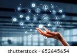 presenting wireless... | Shutterstock . vector #652645654