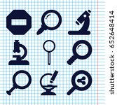 set of 9 zoom filled icons such ... | Shutterstock .eps vector #652648414