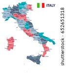 italy map and flag   highly... | Shutterstock .eps vector #652651318
